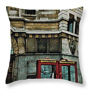 London 25 Throw Pillow