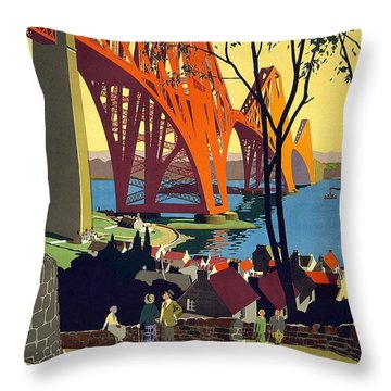 London And North Eastern Railway - Retro Travel Poster - Vintage Poster Throw Pillow