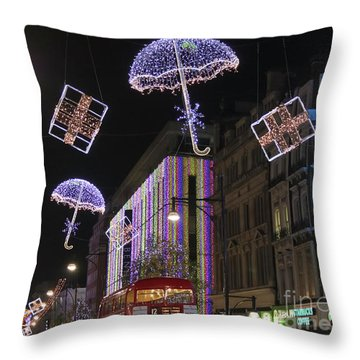 London At Christmas Throw Pillow