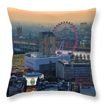 London At Sunset Throw Pillow