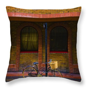 London Bicycle Throw Pillow