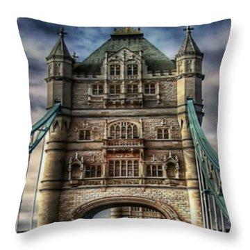 Throw Pillow featuring the photograph London Bridge by Digital Art Cafe