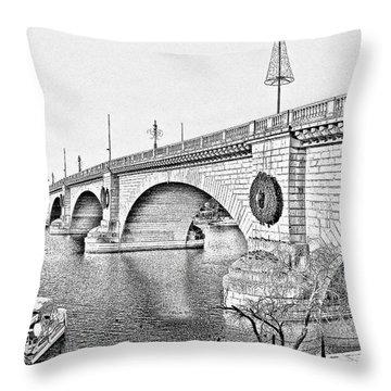 London Bridge Lake Havasu City Arizona Throw Pillow by Christine Till