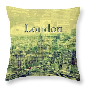 London Calling You Back Throw Pillow