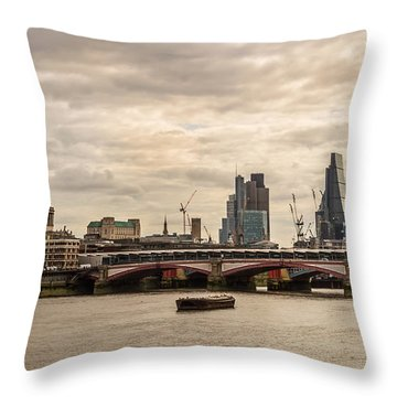 London Cityscape Throw Pillow