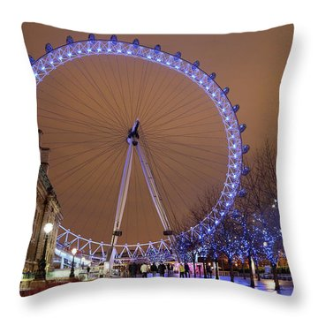 Throw Pillow featuring the photograph Big Wheel by David Chandler
