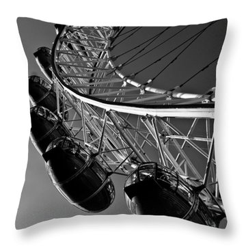 London Eye Throw Pillow by David Pyatt