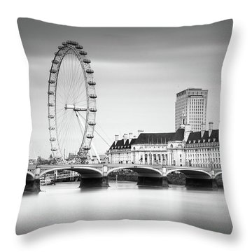 London Eye Throw Pillow by Ivo Kerssemakers