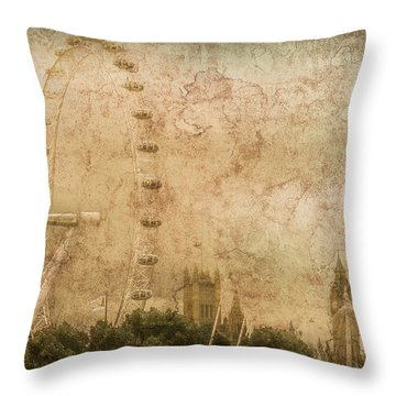 London, England - London Eye Throw Pillow
