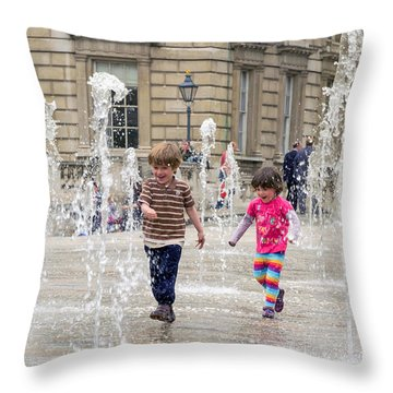 London Fun  Throw Pillow by Keith Armstrong