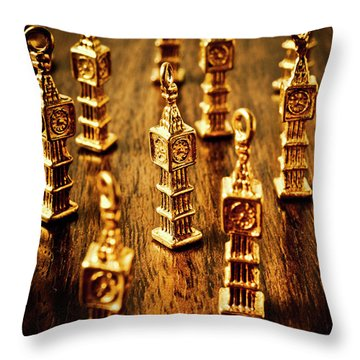London Gold Throw Pillow
