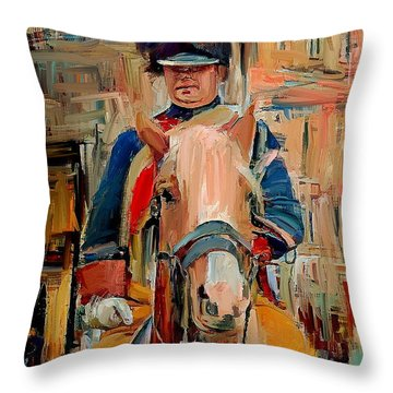 London Guard On Horse Throw Pillow