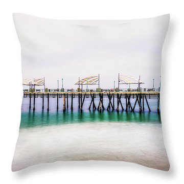 Throw Pillow featuring the photograph London In Redondo by Michael Hope