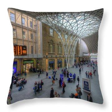 Throw Pillow featuring the photograph London King's Cross by Yhun Suarez