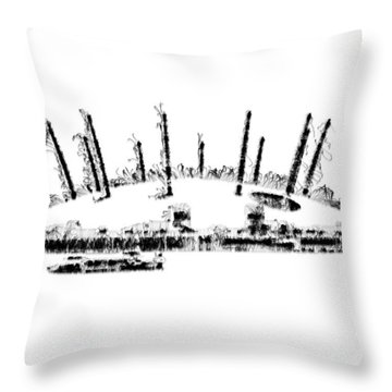 London O2 Arena Throw Pillow