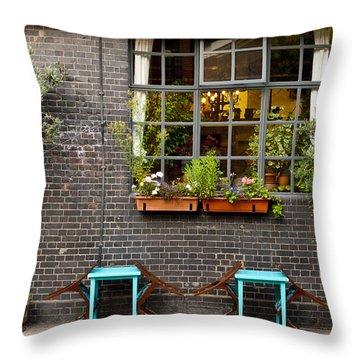 London Patio Throw Pillow by Rae Tucker