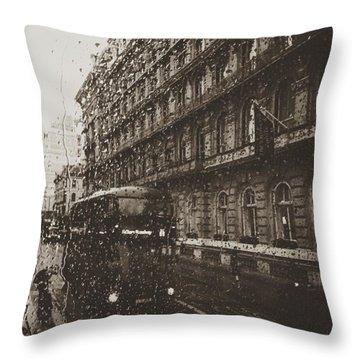 London Rain Throw Pillow