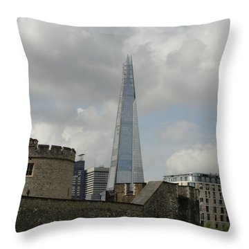 London Shard And Tower Throw Pillow