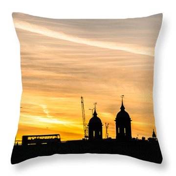 London Silhouette Throw Pillow