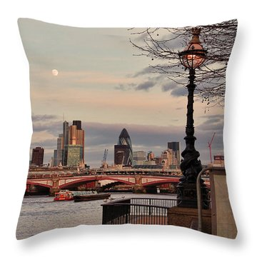 London Skyline From The South Bank Throw Pillow