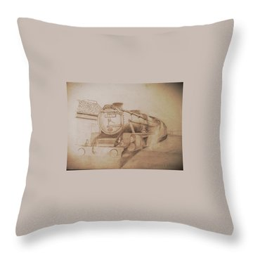 London Steam Locomotive  Throw Pillow