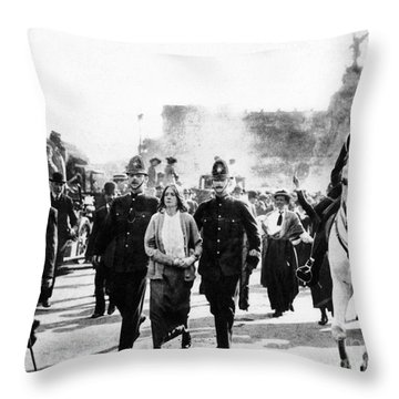 London: Suffragettes, 1914 Throw Pillow by Granger