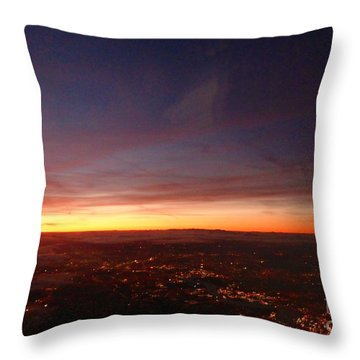 Throw Pillow featuring the photograph London Sunset by AmaS Art