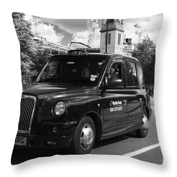 London Taxi Throw Pillow