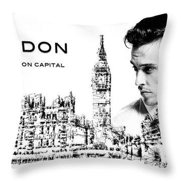 London The Fashion Capital Throw Pillow
