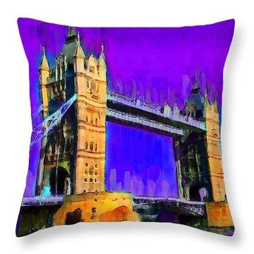 London Tower Bridge 6 - Da Throw Pillow