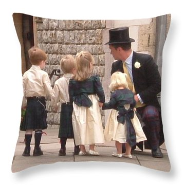 London Tower Wedding Throw Pillow
