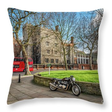 Throw Pillow featuring the photograph London Transport by Adrian Evans