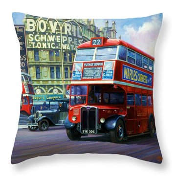 London Transport Rt1. Throw Pillow