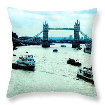Throw Pillow featuring the photograph London Uk by Michelle Dallocchio