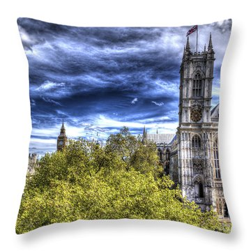 London Westminster Abbey Surreal Throw Pillow