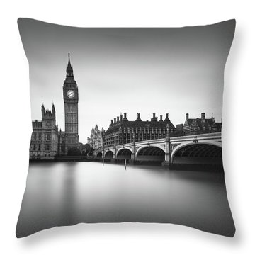 London, Westminster Bridge Throw Pillow by Ivo Kerssemakers