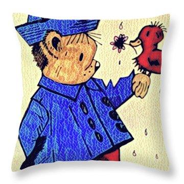 Londonbear And Bensonduck  Throw Pillow