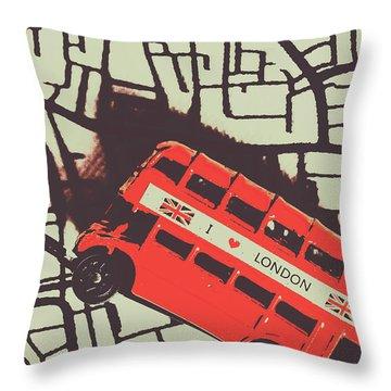 Londoners Travel Run Throw Pillow