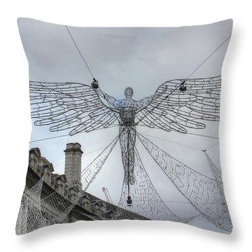 London's Angel Throw Pillow
