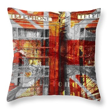 Throw Pillow featuring the digital art London's Calling  by Fine Art By Andrew David