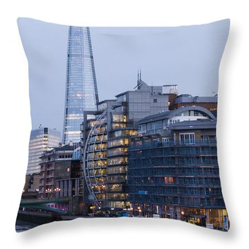 Throw Pillow featuring the photograph London's Shard by David Isaacson