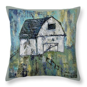 Lone Barn Throw Pillow by Kirsten Reed