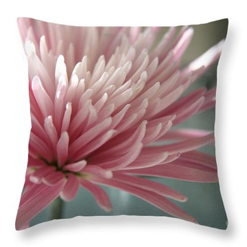 Lone Bloom Throw Pillow by Lynn England
