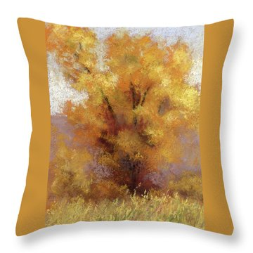Lone Cottonwood Throw Pillow