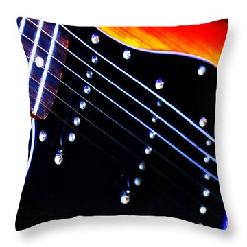 Lone Guitar Throw Pillow by Stephen Melia
