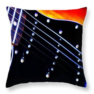 Lone Guitar Throw Pillow by Baggieoldboy