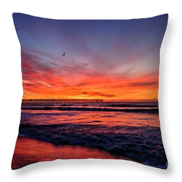 Lone Gull Throw Pillow