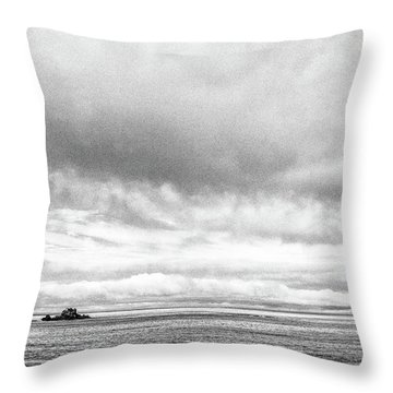 Throw Pillow featuring the photograph Lone Island In The Pacific by Jingjits Photography