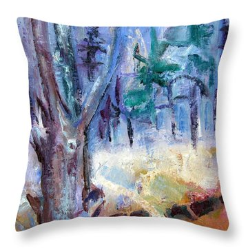 Lone Maple Dying Throw Pillow by Betty Pieper