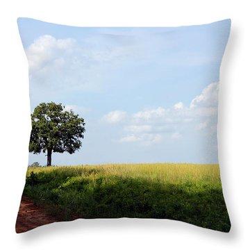 Lone Oak Throw Pillow